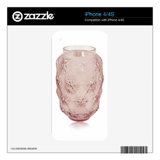 Pink Art Deco glass vase with bubbles. Decals For iPhone 4S