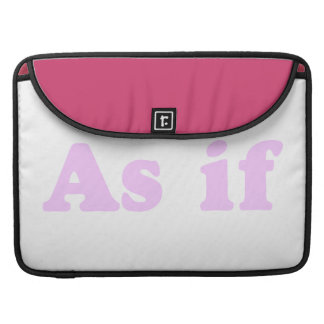 Pink As If Sleeve For MacBooks
