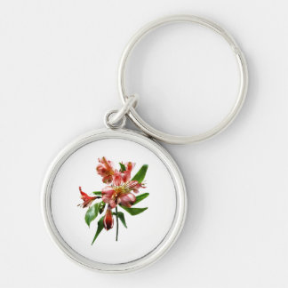 Pink Asiatic Lilies Closeup Keychain