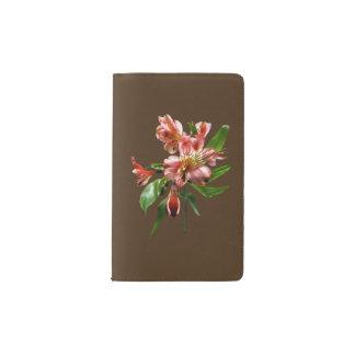 Pink Asiatic Lilies Closeup Pocket Moleskine Notebook