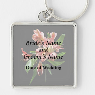 Pink Asiatic Lilies Closeup Wedding Products Keychain