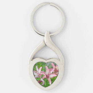 Pink Asiatic Lilies Keychain
