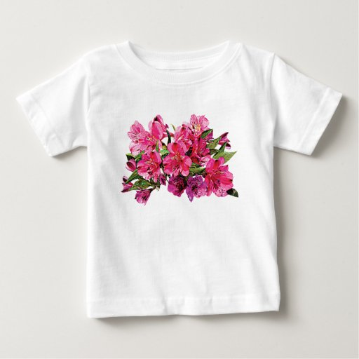 Pink Asiatic Lilies Kids Tshirts