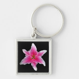 Pink Asiatic Lily Keychain