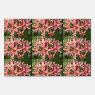 Pink Asiatic Lily Lawn Sign