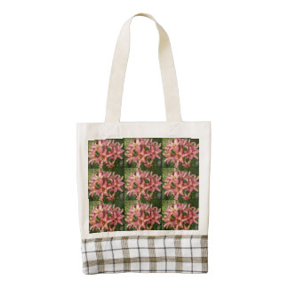 Pink Asiatic Lily Zazzle HEART Tote Bag