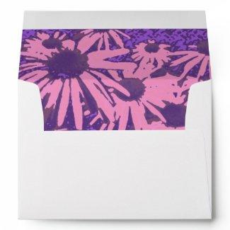 Pink Aster Envelopes