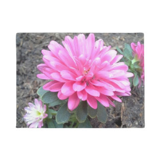 Pink Aster Flowers Doormat