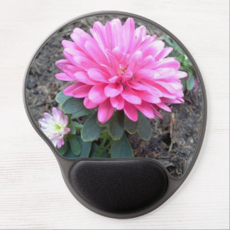Pink Aster Flowers Gel Mouse Pad