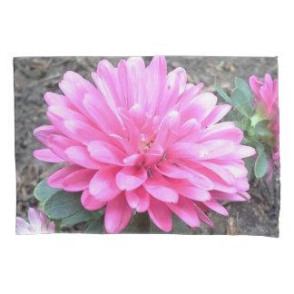 Pink Aster Flowers Pillowcase