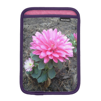 Pink Aster Flowers Sleeve For iPad Mini
