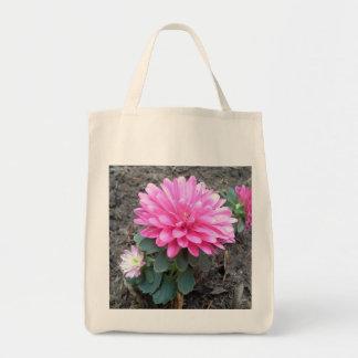 Pink Aster Flowers Tote Bag