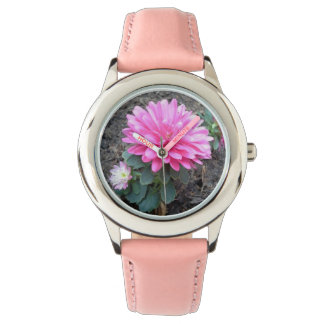 Pink Aster Flowers Watches