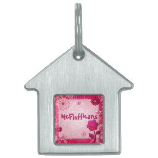 Pink at Play Jeweled PERSONALIZED Pet ID Tag