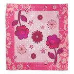 pink floral bandanas, tween bandanas, girly