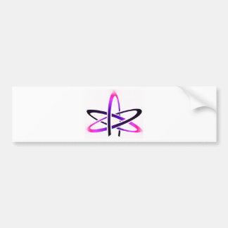 Pink Atheist Symbol Bumper Stickers