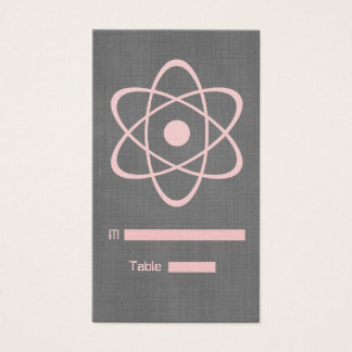 Pink Atomic Chalkboard Place Card
