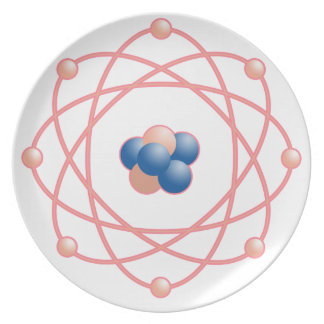 Pink Atomic particles Plates