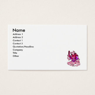 Pink Attack Alien Business Card