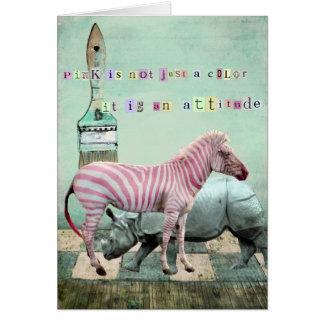 PinK Attitude Animals Card