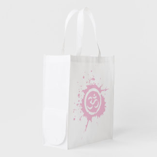 Pink Aum Reusable Shopping Bag Reusable Grocery Bags