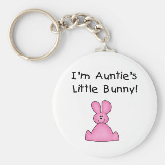 Pink Auntie's Little Bunny T-shirts and Gifts Key Chain