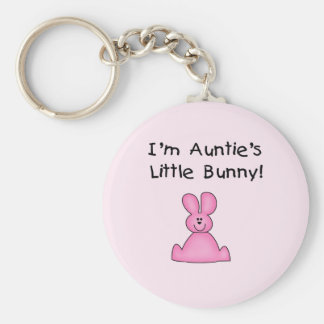 Pink Auntie's Little Bunny T-shirts and Gifts Keychain