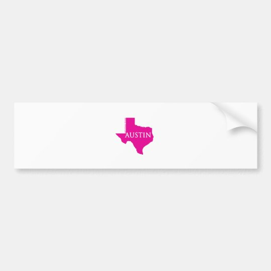 Pink Austin, Texas Bumper Sticker