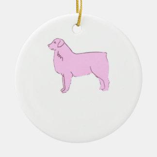 Pink Australian Shepherd Ornament