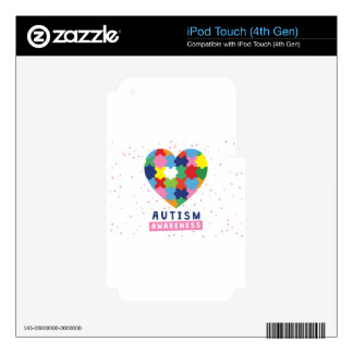 pink autism awareness decals for iPod touch 4G