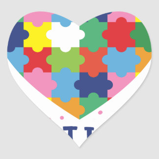 pink autism awareness heart sticker