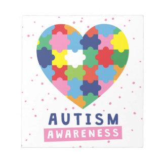 pink autism awareness notepad