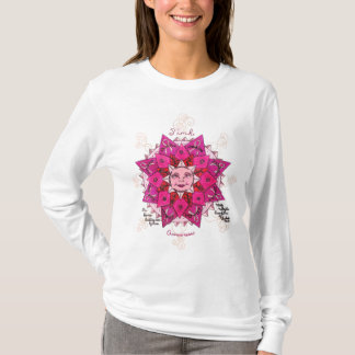 Pink Awareness Ladies AA Fitted Hoody T-Shirt