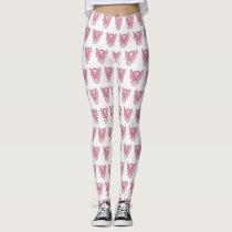 Pink Awareness Ribbon Angel Breast Cancer Leggings