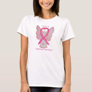 Pink Awareness Ribbon Angel Custom Cause Shirts