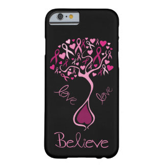 Pink Awareness Ribbon Believe and Love Barely There iPhone 6 Case