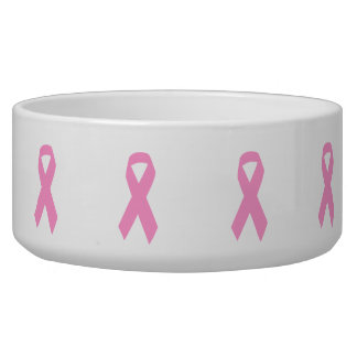 Pink Awareness Ribbon Bowl