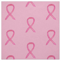 Pink Awareness Ribbon Breast Cancer Custom Fabric
