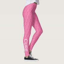 Pink Awareness Ribbon Breast Cancer Leggings