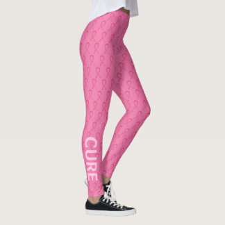 Pink Awareness Ribbon Breast Cancer Leggings
