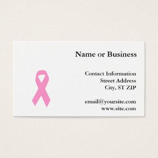 Pink Awareness Ribbon Business Card