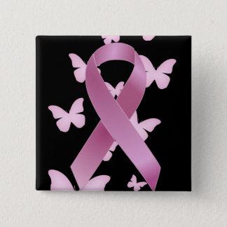 Pink Awareness Ribbon Button