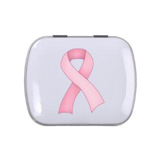 Pink Awareness Ribbon Candy Tin 0001
