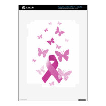 Pink Awareness Ribbon Decal For iPad 3