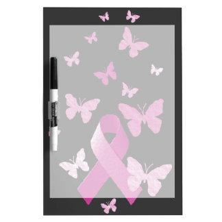 Pink Awareness Ribbon Dry-Erase Board