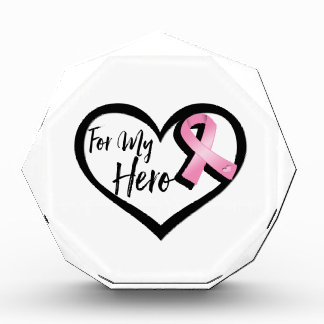 Pink Awareness Ribbon For My Hero Award