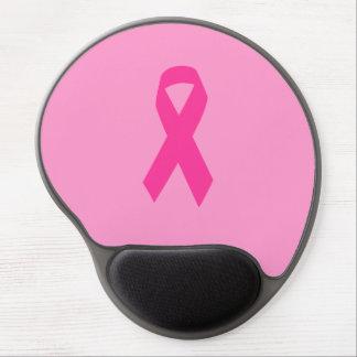 Pink Awareness Ribbon Gel Mouse Pad
