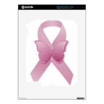 Pink Awareness Ribbon iPad 2 Skin