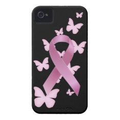 Pink Awareness Ribbon Iphone 4 Case-mate Case at Zazzle