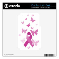 Pink Awareness Ribbon iPod Touch 4G Decal